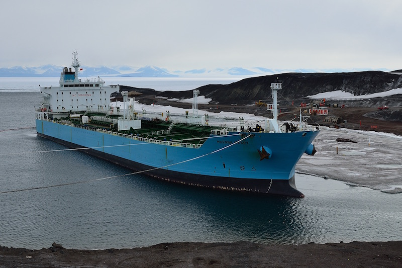 Fuel tanker at McMurdo - January 2012.