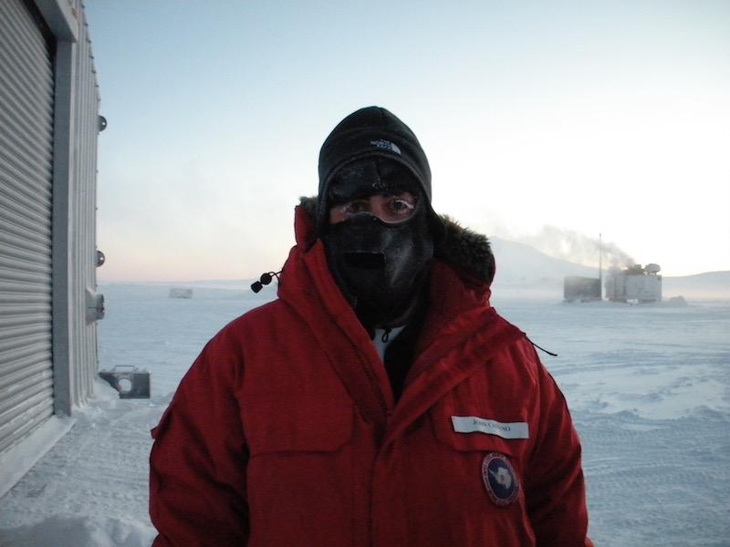 John at Pegasus runway (air temperature -54 F)