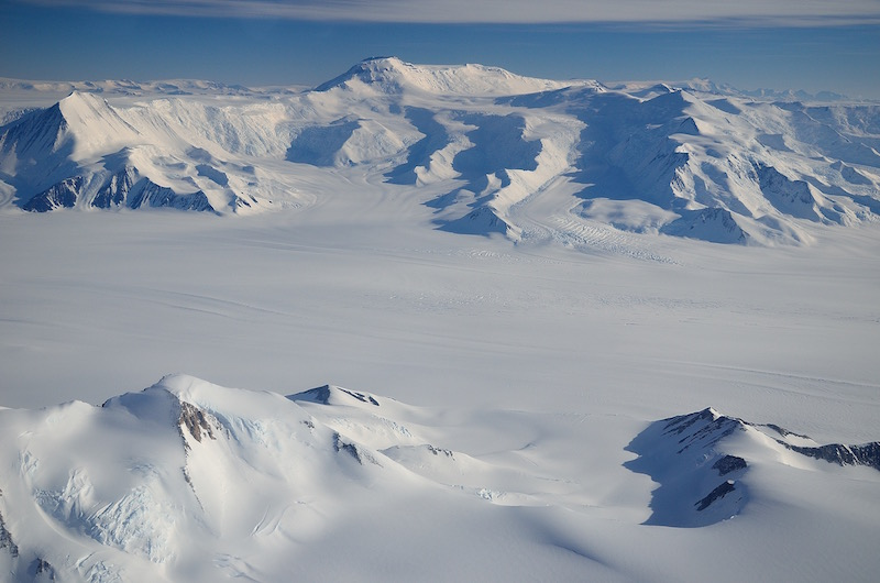 Transantarctic Mountains and glaciers - January 2012.
