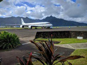 The DC-8 lands in Samoa. Photo credit: Joe Katich
