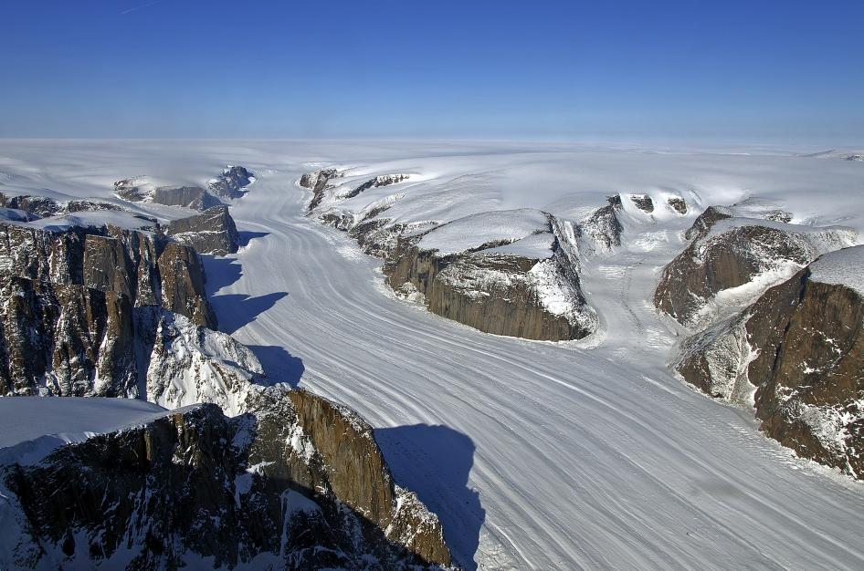 Penny Ice Cap, Baffin Island, Nunavut, Canada. Credit: NASA