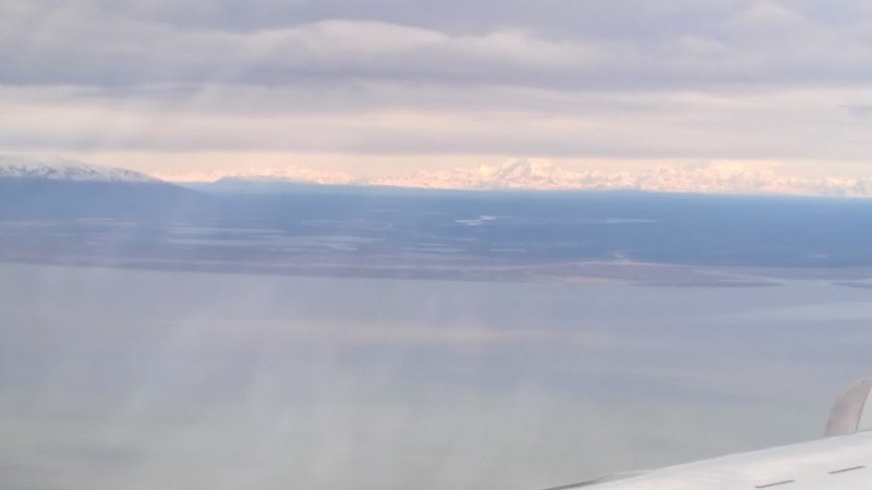 NASA DC-8 landing in Anchorage, Alaska for a two hour refuel.