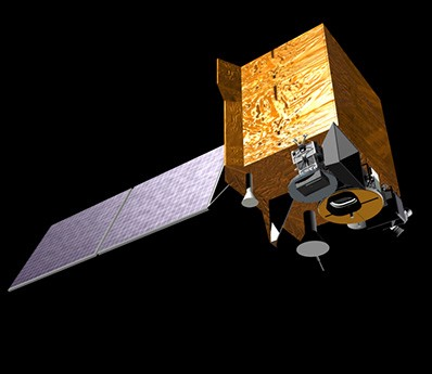 The geostationary satellite that will be monitoring air quality over South Korea. It was built in the United States by Ball Aerospace. Image provided by http://www.ball.com/aerospace/programs/gems.