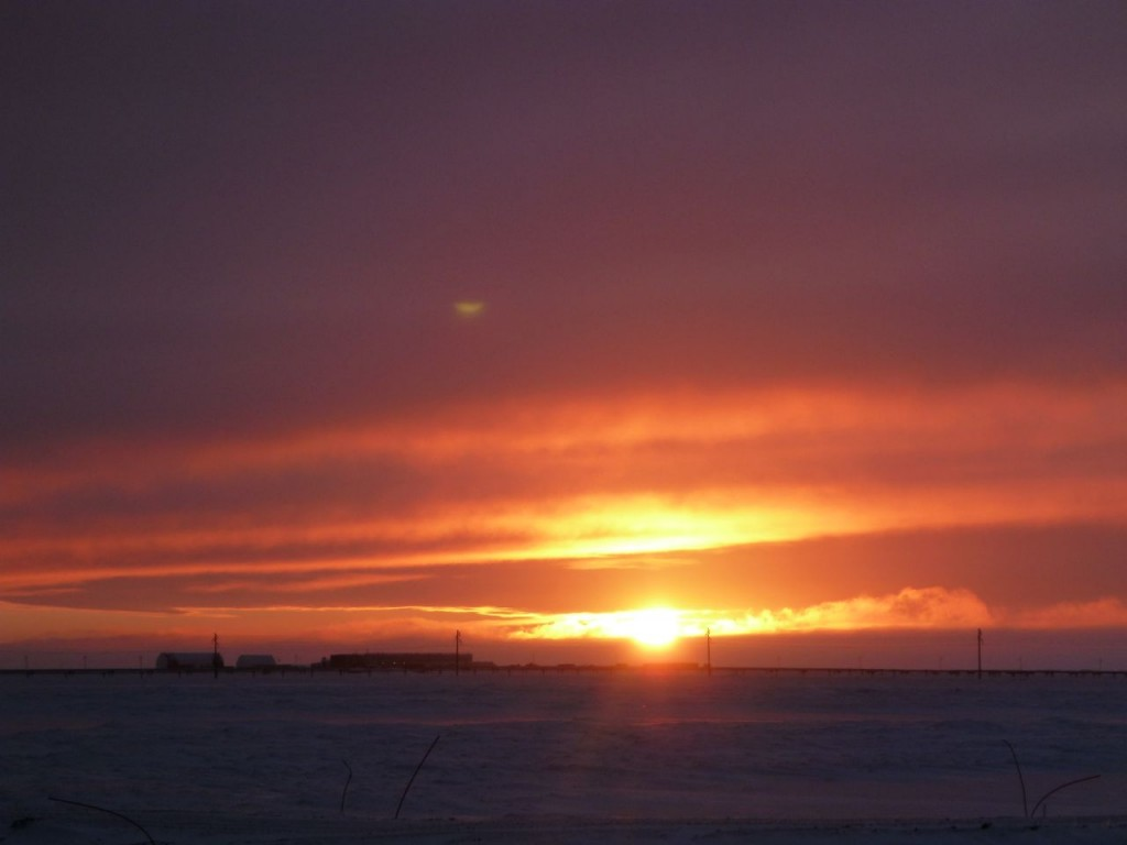 The Arctic sun -- it does exist!