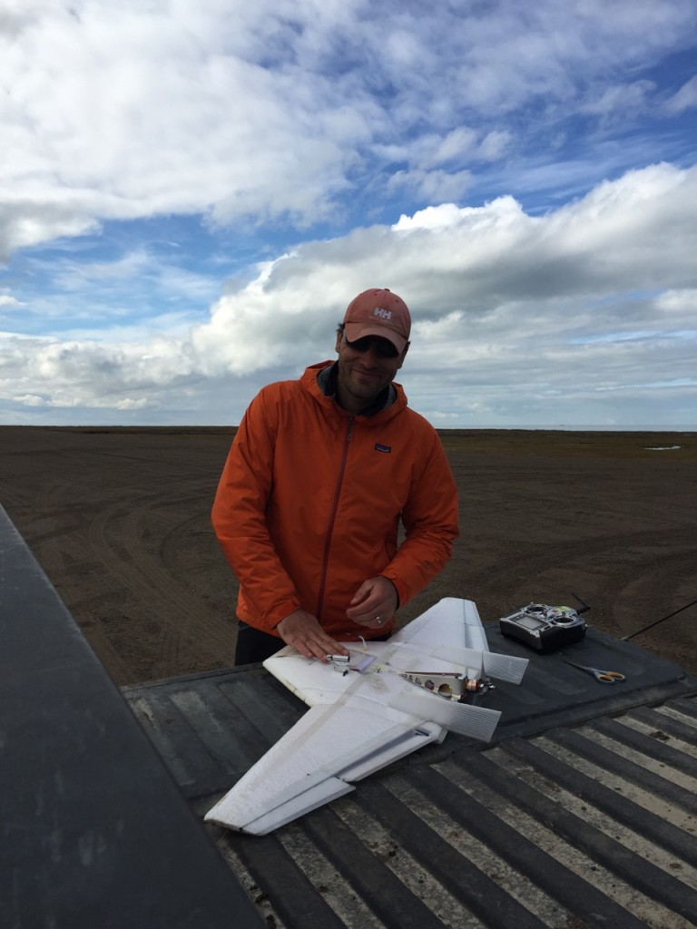 Gijs preparing a DataHawk 2 for launch.