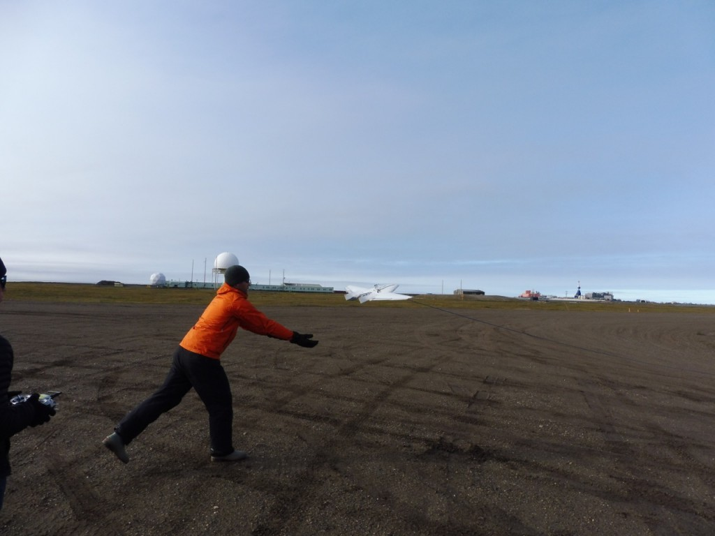 Gijs launching one of several DataHawks from the runway this morning.