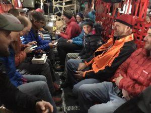 Crew inside C-130