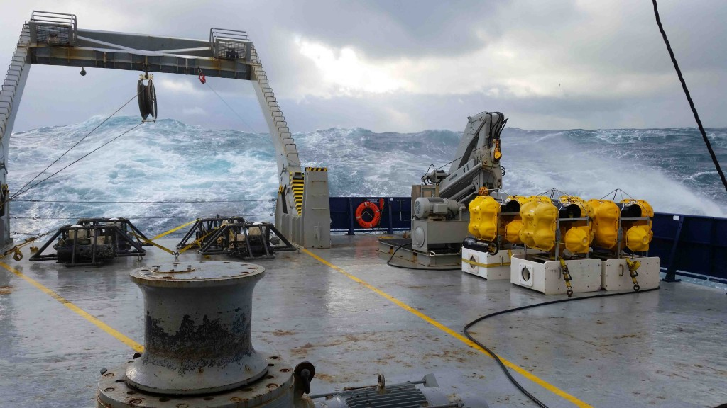 A big wave at the back of the ship. Photo courtesy Justin Ball.