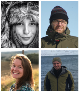 faces of four scientists