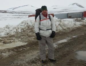 Justin on Antarctica