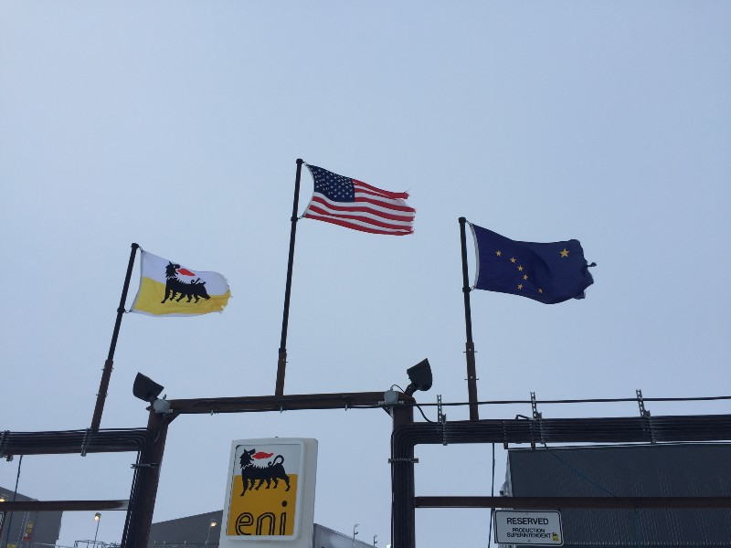 Those flags were not tattered when we arrived. It's been a windy couple of weeks!